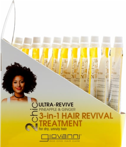 Giovanni 2chic Ultra-Revive Pineapple & Ginger 3-in-1 Hair Revival Treatment Perspective: left