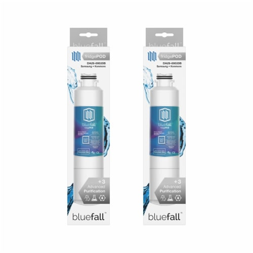 Samsung DA29-00020B 2PK Refrigerator Water Filter Compatible by BlueFall Perspective: left
