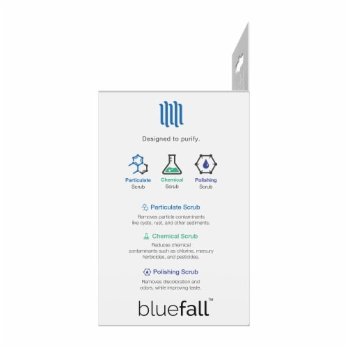Bluefall GE MWF SmartWater Compatible Water Filter ONE Filter Perspective: left