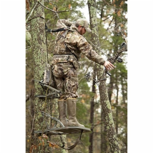 Summit Openshot 81115 SD Self Climbing Treestand for Bow & Rifle Deer Hunting Perspective: left