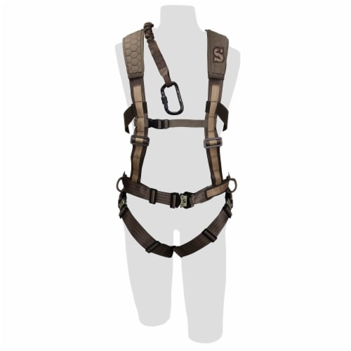 Pradco Summit Treestand Men's Pro Safety Harness 300-Lbs Max, Large | 83082 Perspective: left