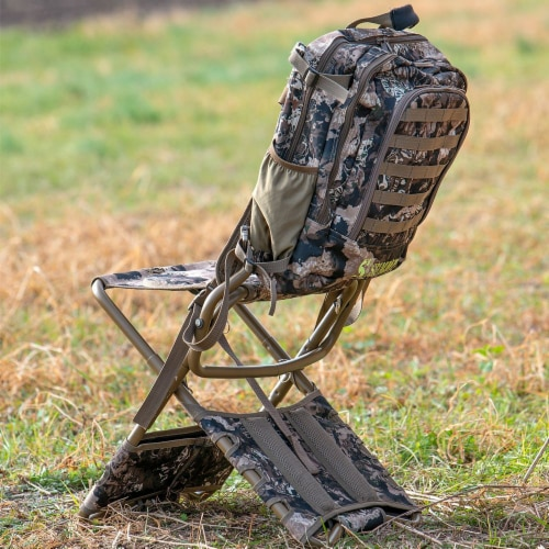 Summit Treestands Lightweight Hunting Compact Chairpack 2.5, Veil Whitetail Perspective: left