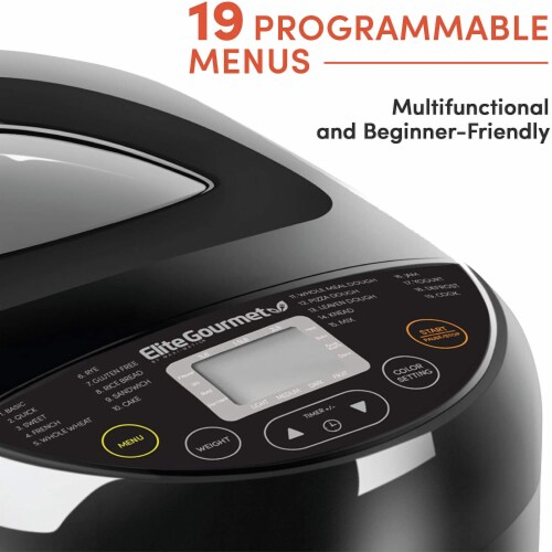 Elite by Maxi-Matic Programmable Bread Machine Maker Perspective: left