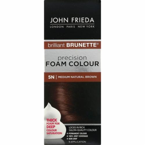 John Frieda Brilliant Brunette 5N Medium Natural Brown Precision Foam Hair Color Perspective: left