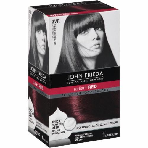 John Frieda 3VR Dark Cherry Brown Foam Hair Color Perspective: left