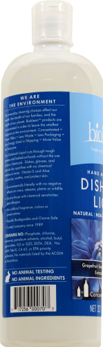 Biokleen Citrus and Aloe Natural Dish Liquid Perspective: left
