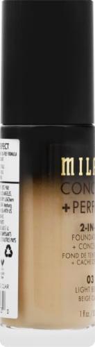 Milani 2-in-1 03 Light Beige Foundation & Concealer Perspective: left
