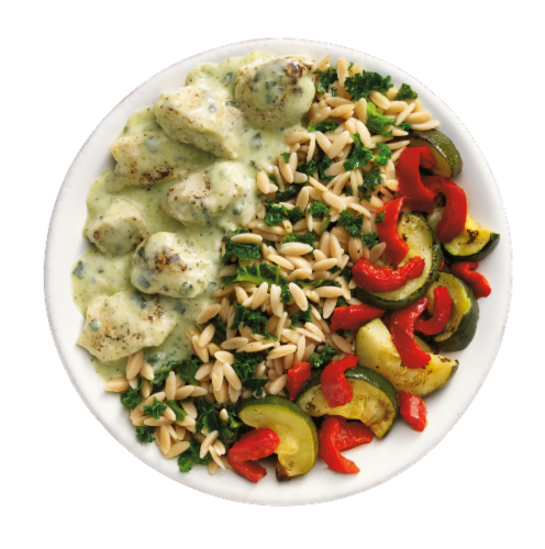 EatingWell Creamy Pesto Chicken Frozen Meal Perspective: left