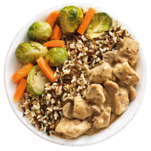 EatingWell Chicken & Wild Rice Stroganoff Frozen Meal Perspective: left