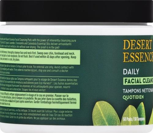 Desert Essence Tea Tree Oil Facial Cleansing Pads Perspective: left