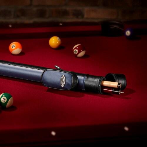 Casemaster Lightweight Q Vault Supreme Billiard/Pool Cue Stick Hard Case, Blue Perspective: left