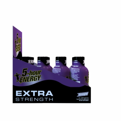 5-Hour Energy Extra Strength Grape Energy Drink Perspective: left