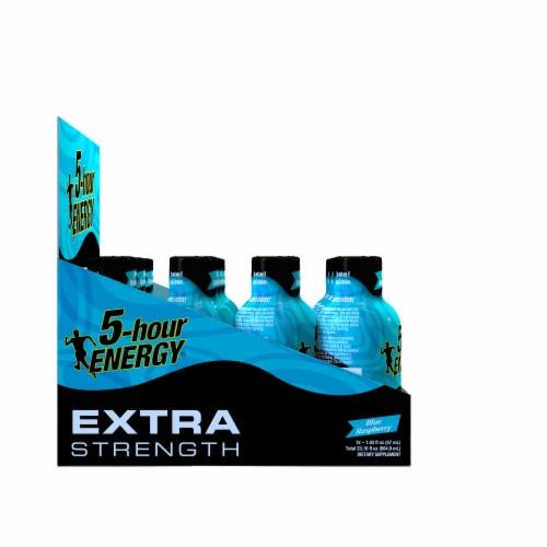 5-Hour Energy Extra Strength Blue Raspberry Energy Shots Perspective: left