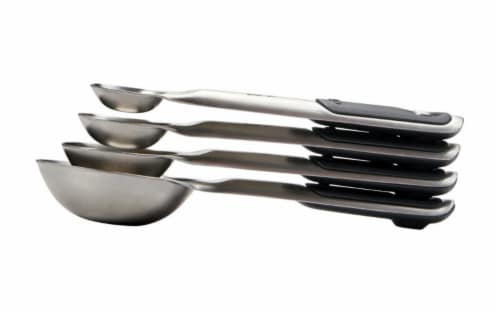 OXO Good Grips Stainless Steel Measuring Spoon Set - Silver/Black Perspective: left