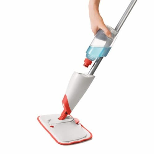 OXO Good Grips Microfiber Refillable Wet Floor Spray Mop with Slide Out Scrubber Perspective: left