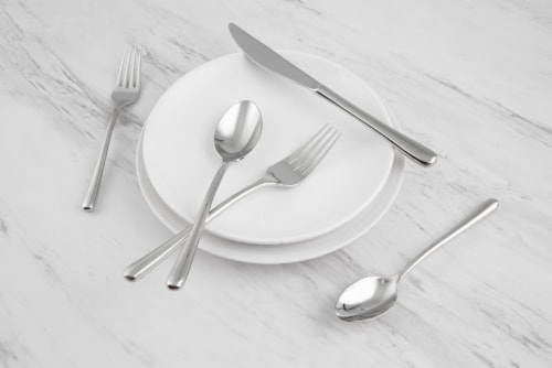 Cambridge Silversmiths Samantha Flatware Set - Mirror Perspective: left