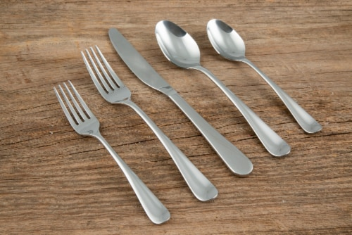 Cambridge Silversmiths Rhiannon Flatware Set - Satin Perspective: left