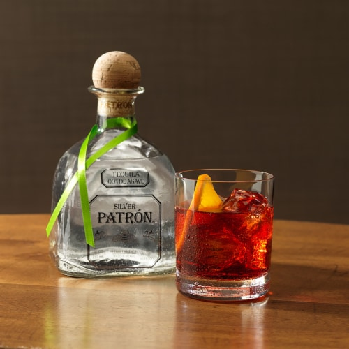 Patron Silver Tequila Perspective: left