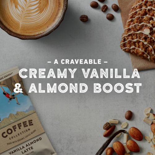 Clif Bar Coffee Collection Vanilla Almond Latte Energy Bar Perspective: left