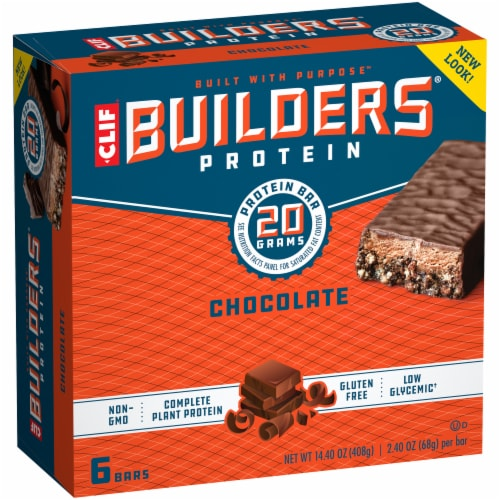 Clif Bar Builders Chocolate Protein Bars Perspective: left