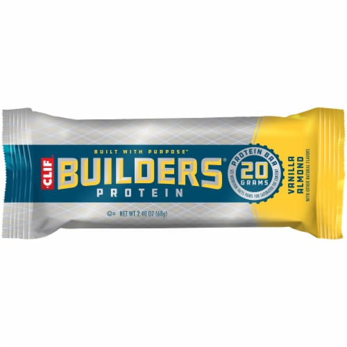 Clif Bar Builders Vanilla Almond Protein Bars Perspective: left