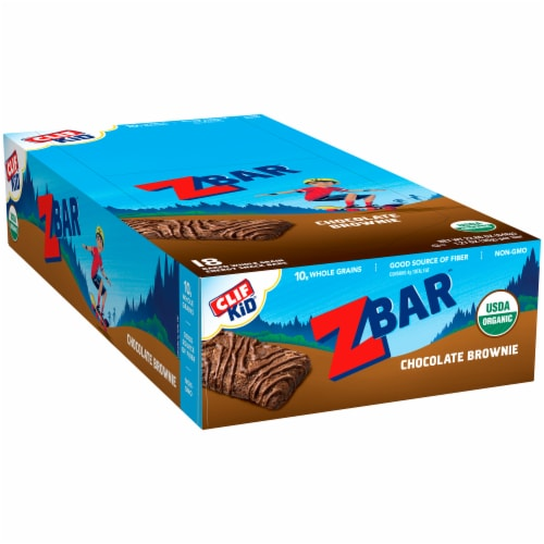 Clif Chocolate Brownie Z Bars Perspective: left
