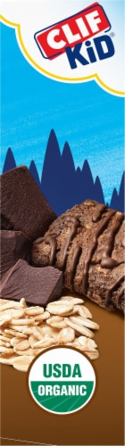 Clif Kid Zbar Organic Chocolate Brownie Snack Bars Perspective: left