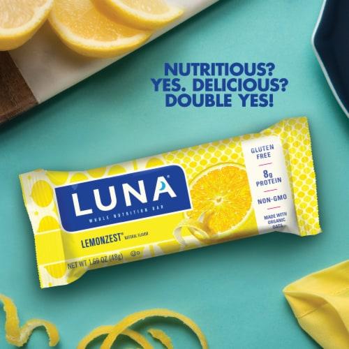 Luna Lemon Zest Whole Nutrition Bars 6 Count Perspective: left