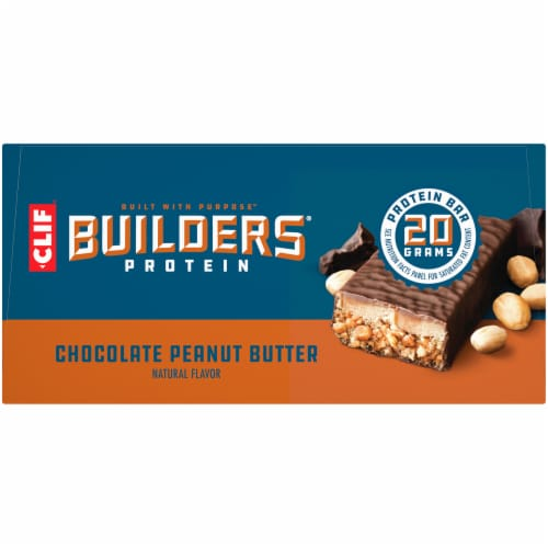 Builders Chocolate Peanut Butter Protein Bars Perspective: left