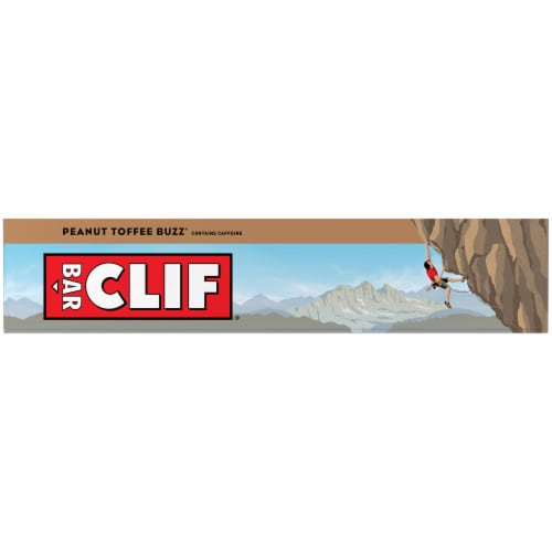 Clif Bar Peanut Toffee Buzz Energy Bars Perspective: left