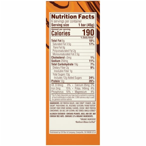 Luna Chocolate Peanut Butter Protein Bars Perspective: left