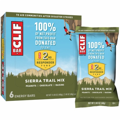 Clif Bar Sierra Trail Mix Energy Bars Perspective: left