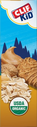 Clif Z Bar Organic Peanut Butter Cookie Baked Whole Grain Energy Snack Bars Perspective: left