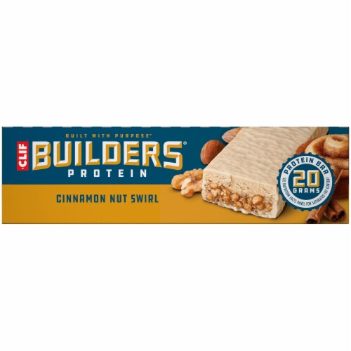 Clif Bar Builders Cinnamon Nut Swirl Protein Bars Perspective: left