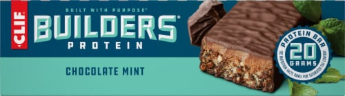 Clif Bar Builders Chocolate Mint Protein Meal Bars Perspective: left