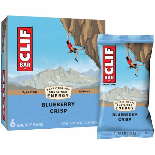 Clif Bar Blueberry Crisp Energy Bars Perspective: left