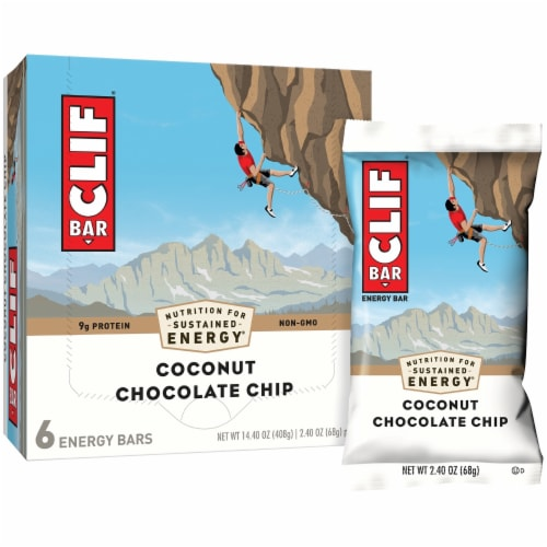 Clif Bar Coconut Chocolate Chip Energy Bars Perspective: left