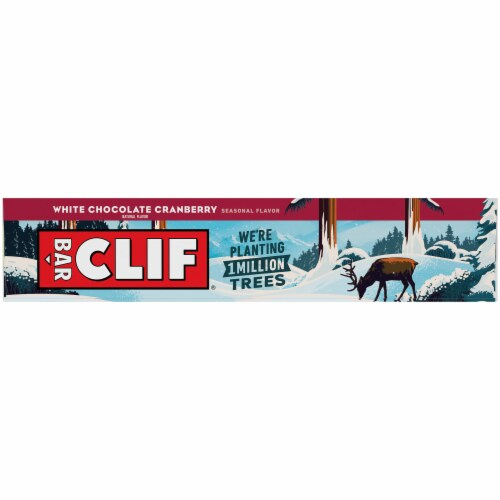 Clif White Chocolate Cranberry Bar Perspective: left