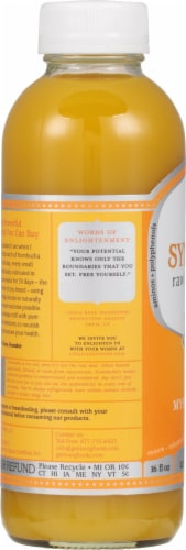 GT's Living Foods Synergy Organic & Raw Mystic Mango Kombucha Perspective: left