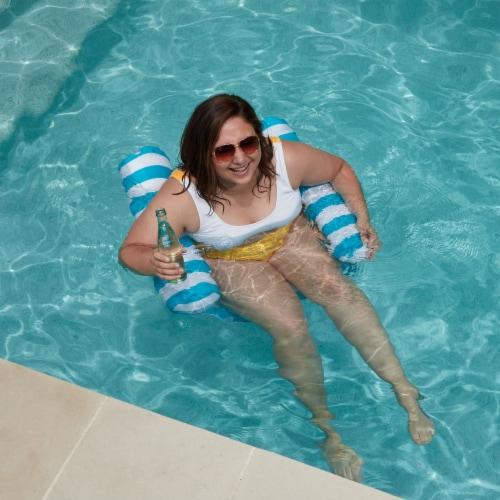 NEW Swimline 9044 Premium Swimming Pool Floating Water Hammock Lounge Chair Perspective: left