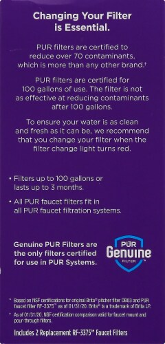 Pur Replacement Filters - White Perspective: left