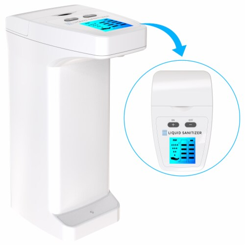 4 Pack Automatic Touchless Soap Dispenser High Capacity for Any Liquid Hand Sanitizer Perspective: left