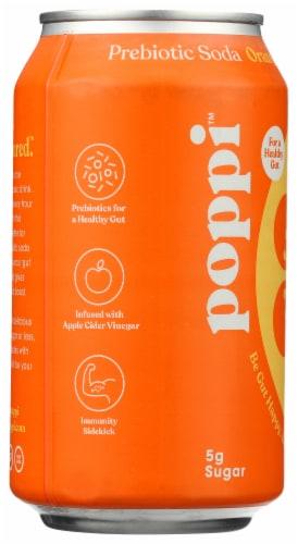 poppi Orange Prebiotic Soda Perspective: left