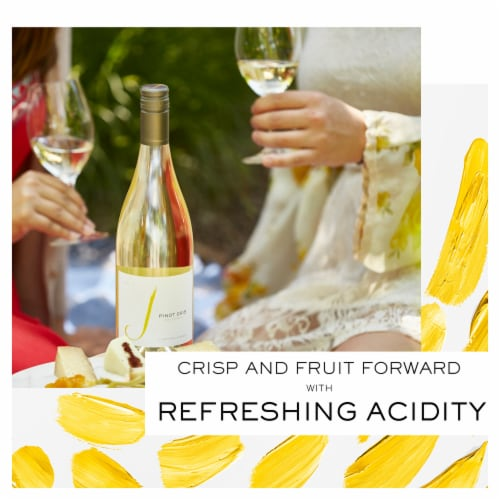 J Vineyards Pinot Gris White Wine Perspective: left