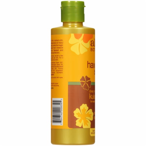Alba Botanica Deep Moisturizing Kukui Nut Hawaiian Body Oil Perspective: left
