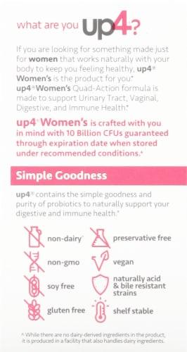 UP4 Women's Probiotics Vegetarian Capsules Perspective: left