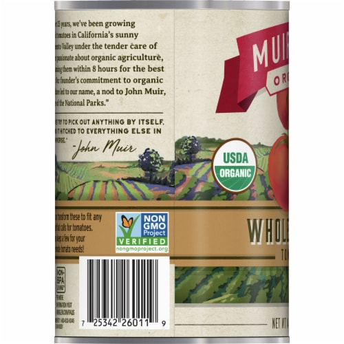 Muir Glen Organic Tomatoes - Whole Peeled - 14.5 oz - Pack of 3 Perspective: left
