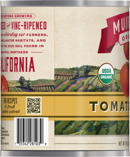 Muir Glen Organic Tomato Puree Perspective: left