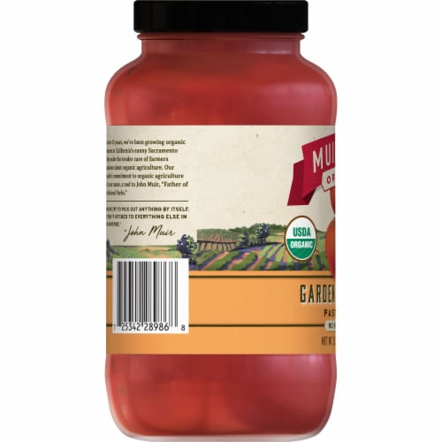 Muir Glen Organic Garden Vegetable Pasta Sauce Perspective: left