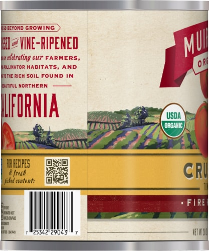 Muir Glen Organic Fire Roasted Crushed Canned Tomatoes Perspective: left
